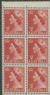 AUS SG263 3½d Queen Elizabeth II brown-red definitive with wmk booklet (exSB31) pane